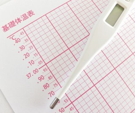 基礎体温計と基礎体温表