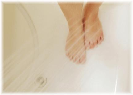 足元のシャワー