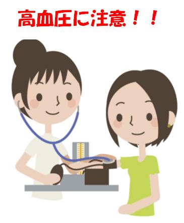 血圧測定 高血圧に注意