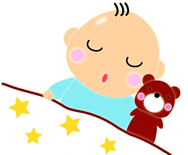 すやすや寝ている赤ちゃん