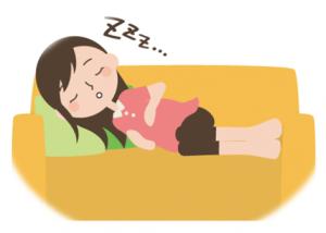 ママさんのお昼寝タイム