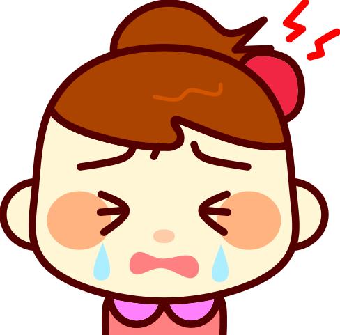 たんこぶが出来て大泣きする女の子