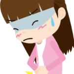 胃痛が起きている女性