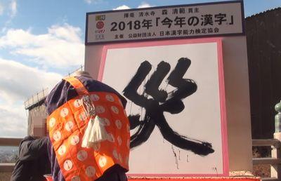 2018年の今年の漢字
