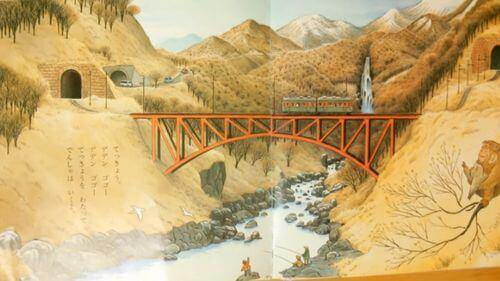 橋を渡る電車