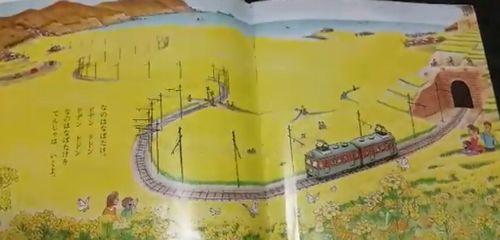 菜の花畑を通る電車